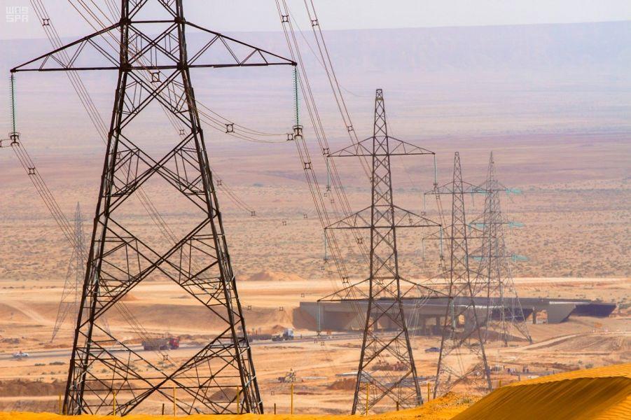 الوطنية لنقل الكهرباء تغطي جميع أرجاء المملكة بأطوال شبكة نقل 84 ألف كلم