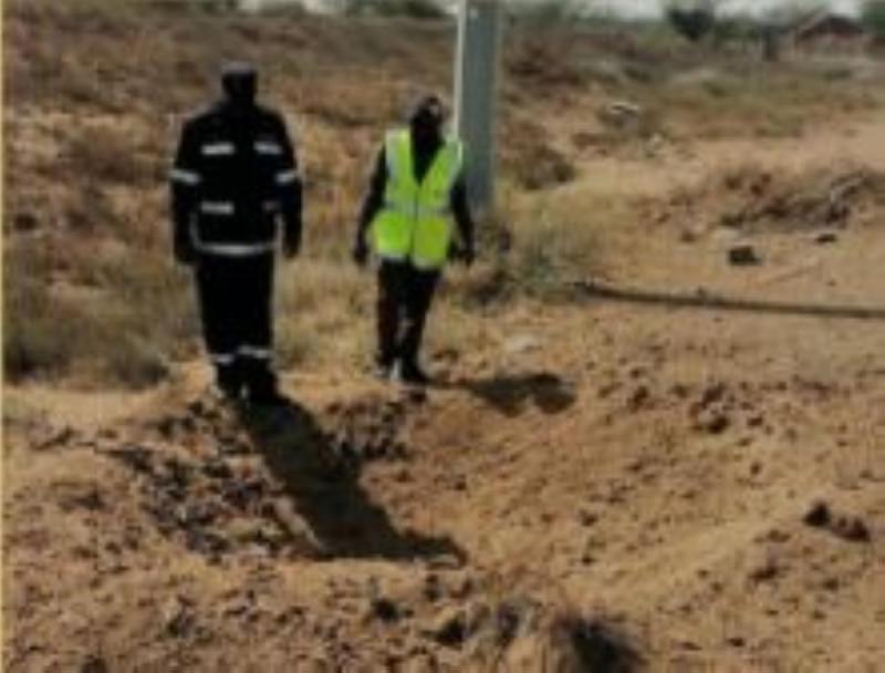 سقوط مقذوف عسكري أطلقته المليشيا على قرية حدودية بجازان