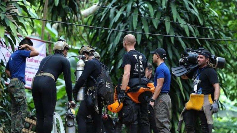 """تايلاند.. إخراج 6 أطفال من """"فتية الكهف"""" وعمليات الإنقاذ تتواصل"""