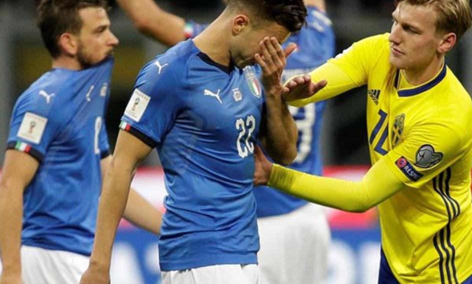 إيطاليا تفشل في التأهل لكأس العالم